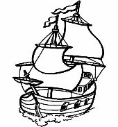 Üvegfestés sablon  : Hajó/Tenger