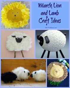 March lion and lamb craft ideas for kids~ In like a lion, out like a lamb? Or is it the other way around....