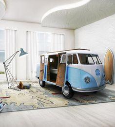 Hippie Bun Van Bed for Children http://petitandsmall.com/bun-van-kids-bed/ #kidsroom