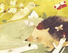 Chinese hedgehog illustration