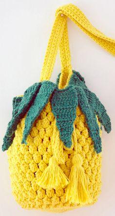 A bolsa de abacaxi feita em crochê mais legal ever!