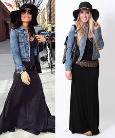 Add a denim jacket & hat to your maxi dress for an instant chic look! Shop online: bit.ly/j9fM8G. #style #fashion