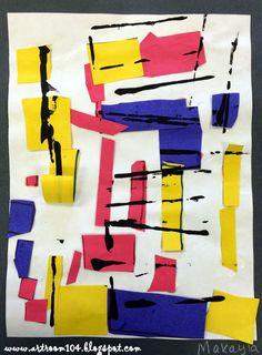 Kindergarten Mondrian Collages