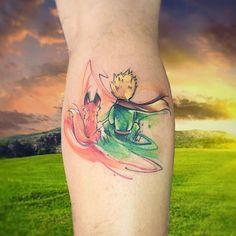 ThePrnc #tattoo #tatuaje #elprincipito #thelittleprince #lepetitprince #ab #watercolor #aquarelle #cuento