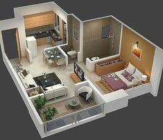 Sims House Plans, Dream House Plans, Modern House Plans, Small House Plans, House Floor Plans, Small Apartment Plans, Small Apartment Design, Apartment Floor Plans, Apartment Layout