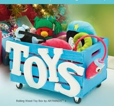 DIY toy box - This would make a great Auction Basket - Fill with new toys or games and a gift card to a toy store? Diy For Kids, Crafts For Kids, Diy Kids Furniture, Wood Crates, Toy Craft, Wood Toys, Kids Playing, Wood Projects, Fun Projects