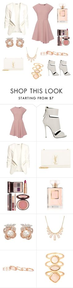 """Wedding"" by elizabethbonheur ❤ liked on Polyvore featuring TIBI, Giuseppe Zanotti, H&M, Yves Saint Laurent, Charlotte Tilbury, Chanel, Anabela Chan, Rivka Friedman, Kendra Scott and Monsoon"
