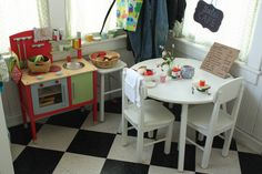 Katydid and Kid: Cafe Play... I need a bigger under the stairs cupboard!