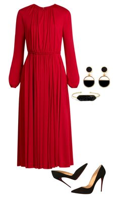 """""""Untitled #1052"""" by emiline15 on Polyvore featuring Valentino, Christian Louboutin, BaubleBar and Warehouse"""