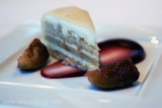 Pastry god Johnny Iuzzini, JG: marzipan layer cake, rosemary roasted fig, cassis and pear gelee  Taste good