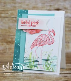 If you love flamingos, you will love the new Fabulous Flamingos stamp set from Stampin' Up!