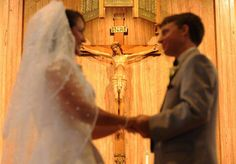 I love this picture!! (click to see bigger)  ~ Seth and Brigid's wedding by A & D Photography http://www.andphotographers.com/gallery/wedding-seth-james-demoor-and-brigid-breen-sweeney/ (This is Seth DeMoor of http://onebillionstories.com ) #catholic #wedding
