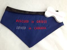 Custom Bandannas for Tails From Greece rescue dogs   $18  www.facebook.com/wagzwear Dog Id, Lost & Found, Rescue Dogs, Greece, Facebook, Products, Greece Country, Beauty Products
