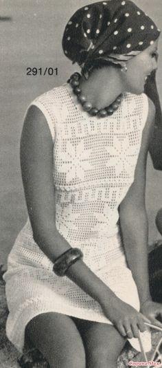 filet crochet dress pattern