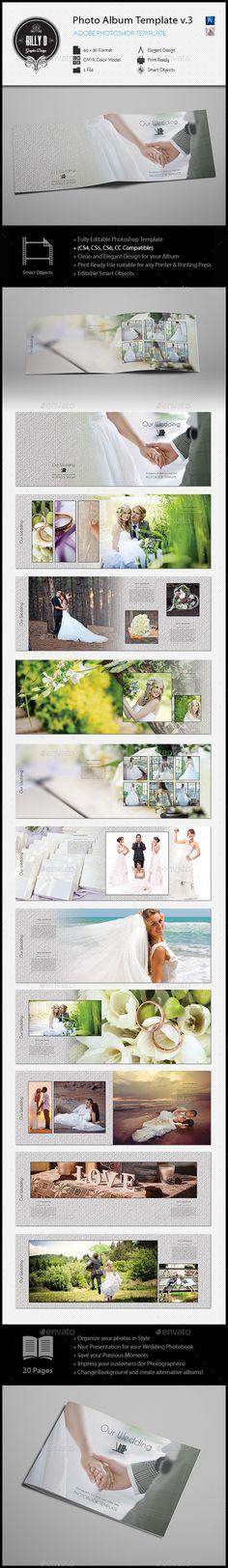 #Photo #Album Template v3 - Photo Albums Print #Templates Download here: https://graphicriver.net/item/photo-album-template-v3/10299744?ref=alena994