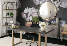 Pretty Little Lair! Inside Shay Mitchell's 'Chic and Professional' Office Makeover – Chic Home Office Design Home Office Space, Home Office Design, Home Office Decor, Office Ideas, Office Designs, Feminine Office Decor, Office Inspo, Office Setup, Office Chic