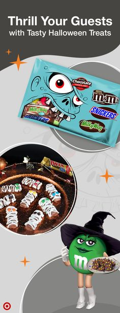 Be the best host on the block this Halloween. Get creative with your candy. Serve and enjoy.