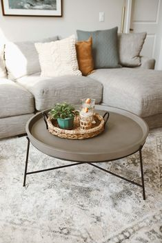 Her Name Is Sylvia: living room update with raymour & Flanigan Living Room Update, Living Room Grey, Living Room Sofa, Home Living Room, Apartment Living, Living Room Designs, Small Space Living Room, Small Living, Modern Living