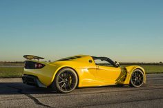 """The Hennessey Venom GT was an incredible supercar, even when it made """"only"""" 1244HP. But Hennessey recently cranked up the boost on the twin turbocharged 7.0L (427ci) V8 to make 1451HP! To keep this power connected to the road, they run Michelin Pilot Super Sport tires on Forgeline 1pc forged monobock GA1R wheels finished in Satin Black. See more at: http://www.forgeline.com/customer_gallery_view.php?cvk=1530  #Forgeline #GA1R #monoblock #notjustanotherprettywheel #madeinUSA #Hennessey…"""