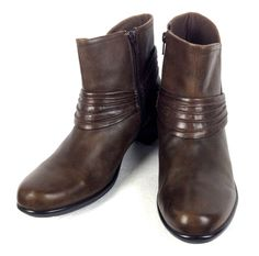 Clarks Boots Womens 10 Brown Leather Mid Calf Shoes #Clarks #FashionMidCalf