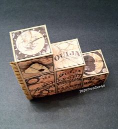 """Ouija Board"" Blocks Card (top view) by papercrafter45"