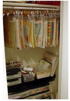 Closet Organisation of art supplies
