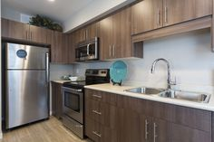 We just love how this kitchen turned out! Pocket Neighborhood, Healthy Exercise, Oak Park, Beautiful Park, Townhouse, Amber, The Neighbourhood, Kitchen Cabinets, Life