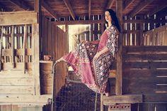 Vintage Adini 1970s Indian caftan dress Hippie Boho by LMVintageNC