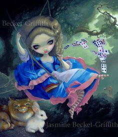 Alice in Fragonard's Swing - Strangeling: The Art of Jasmine Becket-Griffith - www.strangeling.com