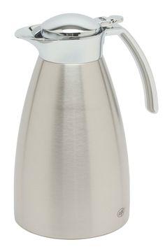 Houdt versgezette koffie lang warm in deze stijlvol afgewerkte Alfi Gusto TT thermoskan. Warme dranken blijven tot 12 uur lang warm, koude drank tot 24 uur lang koud.