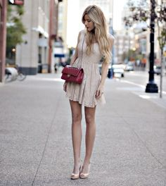 Absolutely perfect spring or summer neutral; would be perfect outfit to pair with really bold lips.