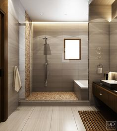 Modern bathroom on Behance Bathroom design Modern bathroom Modern Master Bathroom, Dream Bathrooms, Contemporary Bathrooms, Amazing Bathrooms, Small Bathroom, Bathroom Showers, Bathroom Design Luxury, Bathroom Layout, Modern Bathroom Design