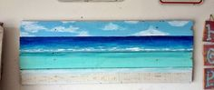pallet art   pallet art Ocean Themes, Beach Themes, Beach Decorations, Pallet Art, Pallet Projects, Pallet Ideas, Sewing Projects, Ocean House, Weekend Projects