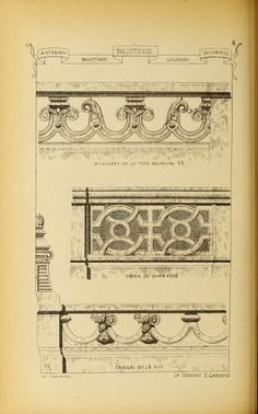 Materials and documents of architecture and sculpture : classified alphabetically Architecture Details, Architecture Art, Architectural Elements, Architectural Drawings, Balustrades, Building Sketch, Sculpture, Wood Engraving, Botanical Art