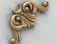 Carved decor corner 003 Model available on Turbo Squid, the world's leading provider of digital models for visualization, films, television, and games. 3d Max, 3d Projects, Door Handles, 3d Printing, Carving, Architecture, Bed Rest, Design, Models