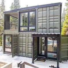 Extraordinary Shipping Container Design Ideas For House 03 Sea Container Homes, Building A Container Home, Container Buildings, Container Architecture, Container House Design, Casas Containers, Shipping Container House Plans, Custom Homes, Building A House