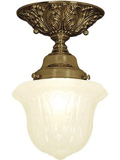 "Charleston Flush Mount Ceiling Light With 3 1/4"" Fitter  Item #: RS-03VL-P40E-ALT-B-325-AB $184.90 Purchase Shades Separately Item #: R-03PB-08858 $33.99 The height without shade is 4 3/4"", add shade height to get total drop. The canopy measures 5 1/2"" in diameter."