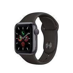Apple Watch Series 5 (GPS + Cellular, - Space Gray Aluminum Case with Black Sport Band - Apple Watch Series 5 (GPS + Cellular, – Space Gray Aluminum Case with Black Sport Band watcher watch sayings watches Apple Watch Hacks, Buy Apple Watch, Apple Watch Series 3, Smartwatch, Bluetooth, Apple Iphone 6, Iphone Se, Iphone Watch, Ecg App