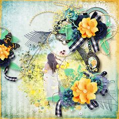 Layout using {Gorgeous July Day} Digital Scrapbook Kit by Eudora Designs available at PBP   https://www.pickleberrypop.com/shop/manufacturers.php?manufacturerid=173