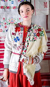 """Knit and embroidered cardigan """"Piroschka"""" by Gudrun Sjoden"""