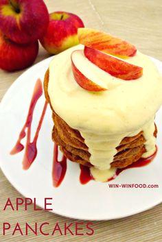 Apple Pancakes with Vanilla Sauce | Win-Win Food | #vegan