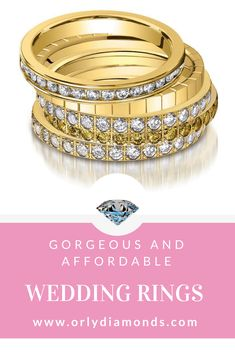 Yellow gold wedding bands and yellow gold and diamond wedding bands at Orly Diamonds