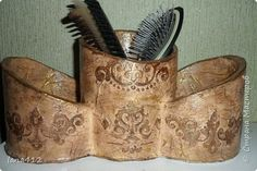 Декор предметов Декупаж декор бутылок шпаклевкой и кожей Краска Ракушки фото 8