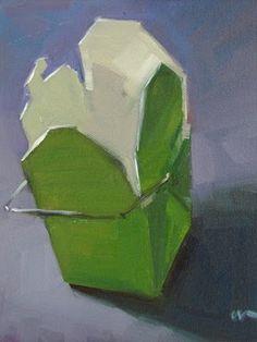 """Takeout Box --- SOLD - SOLD"" - Original Fine Art for Sale - © Carol Marine"