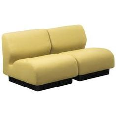 Don Chadwick Yellow Modular Sofa, Herman Miller, UK, 1970s