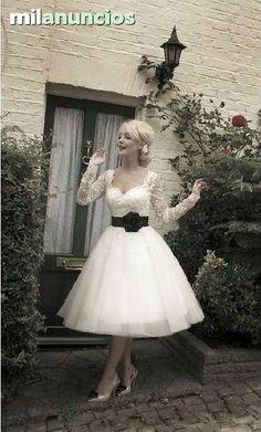 . vestido de novia corto de organza y encaje transparente  usted puede elegir el color, se confecciona a mano para usted , estilo vintage , colecci�n verano 2014 consultenos por email
