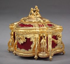French gilt Jewelry box LATE 1880s By Tahan Paris