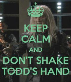 Keep Calm Wraith Poster #13 - Todd's Handshake by VelvetKevorkian333