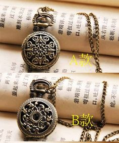 Pocket Watch Charm  9 Styles of Antique Brass by ministore on Etsy, $4.40