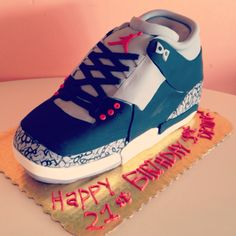 Air Jordan Birthday Cake by 2tarts Bakery New Braunfels, TX www.2tarts.com